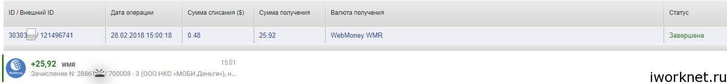 Vipip - вывод денег