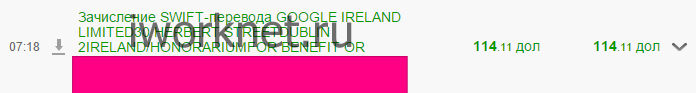 Зачисление денег из google adnsense на карту приватбанка