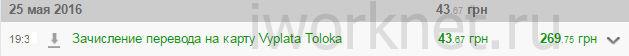 Выплата с Яндекс Толока на карту приватбанка