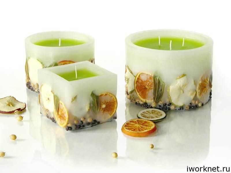 Изготовление мыла, декоративных свечей